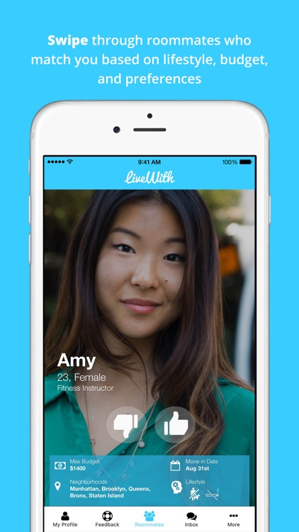 LiveWith: Roommate Finder
