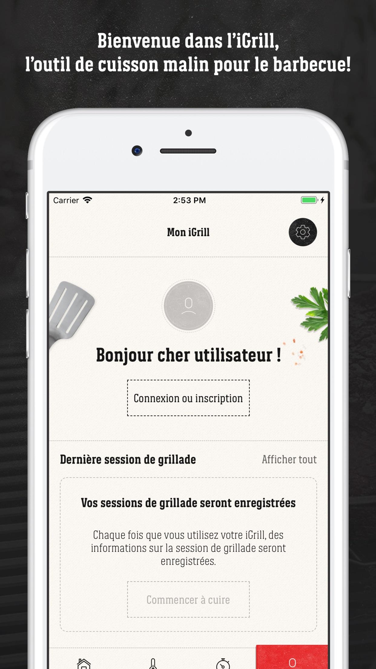 Weber® iGrill® Screenshot
