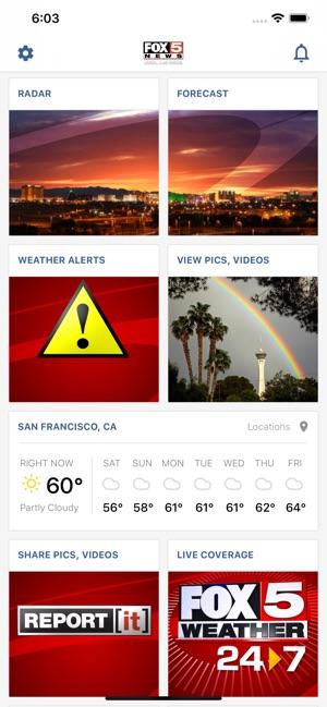 Las Vegas Weather Radar-FOX5 on the App Store