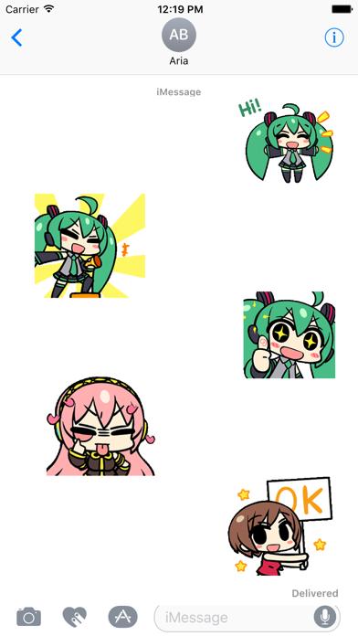 Animated Miku And Gang Sticker screenshot 1