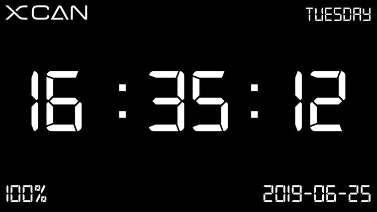 XCAN Clock - Digital Clock screenshot-3