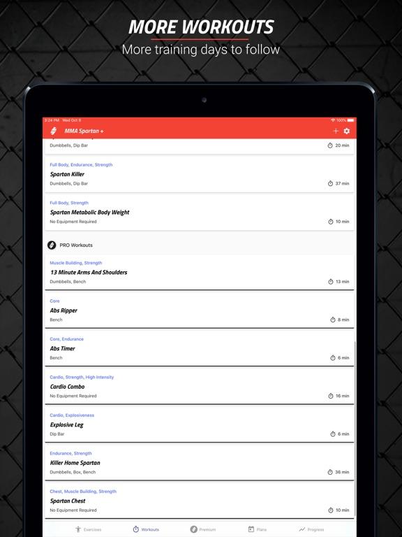 MMA Spartan Workouts Pro Screenshots