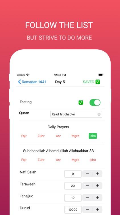 Ramadan Checklist