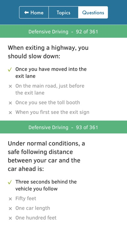 US Driving Knowledge Test