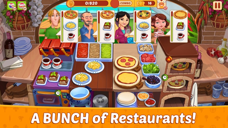 Crazy Restaurant Cooking Party screenshot-3
