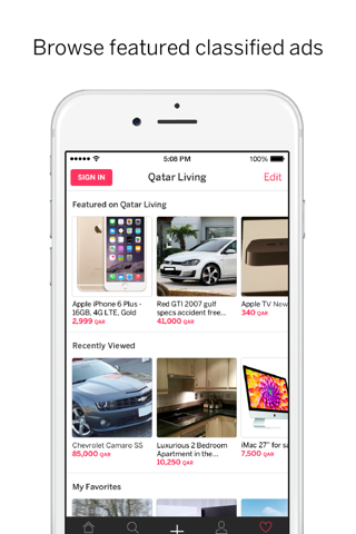 Qatar Living Classifieds - náhled