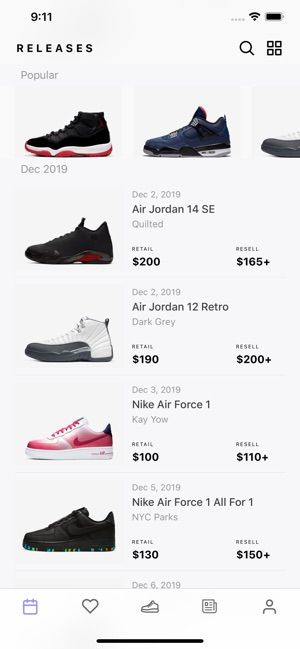 Sneaker Crush - Release Dates on the