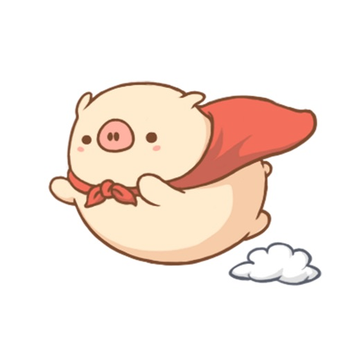 Cute Super Piggy - Animated