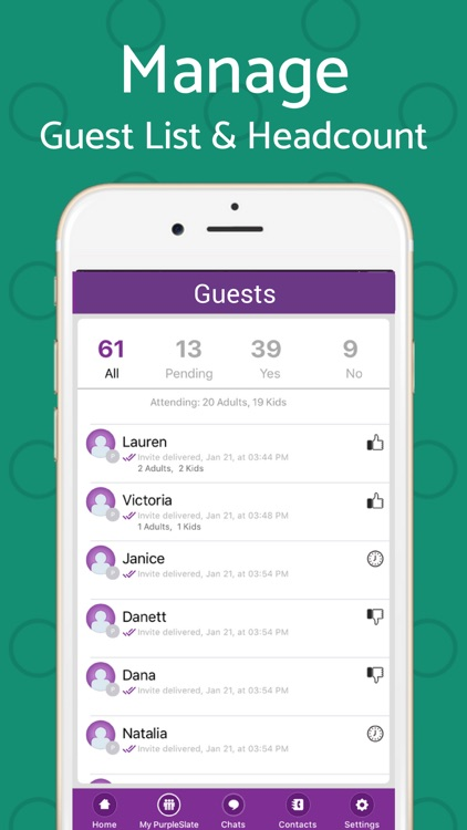 Text Invite Maker: PurpleSlate screenshot-3