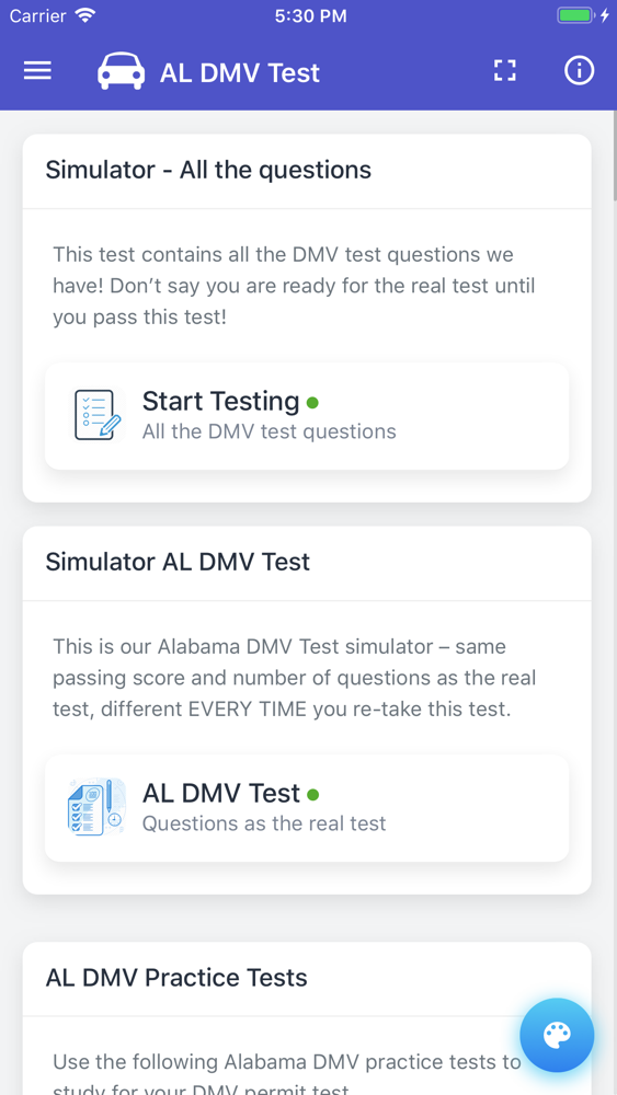 alabama drivers license test app