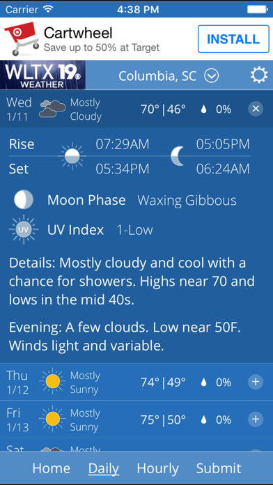 WLTX Weather iOS Application Version 4 8 900 - iOSAppsGames
