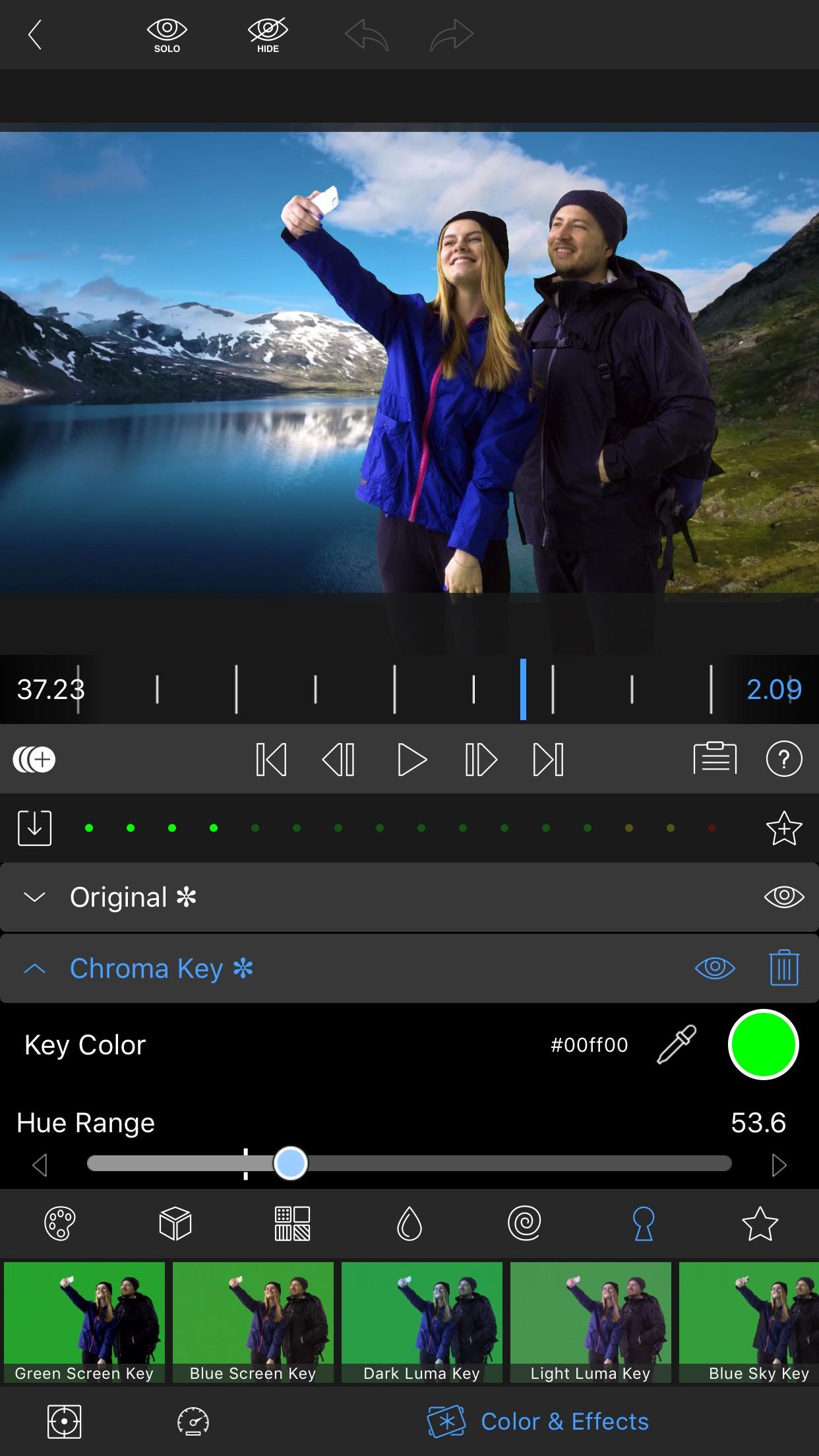 Screenshot do app LumaFusion