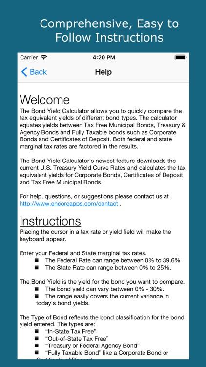 Bond Yield Calculator screenshot-5