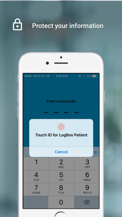 Screenshot for LogBox Patient in South Africa App Store