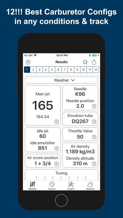 Jetting IAME KZ1 / KZ2 Kart screenshot-0