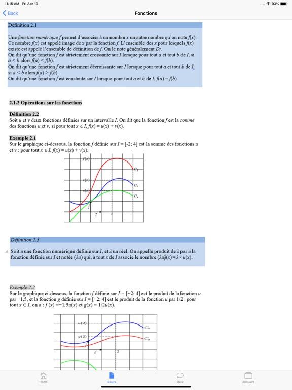 Maths Terminale ES screenshot 9