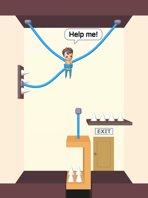 iPad Image of Rescue Cut - Rope Puzzle