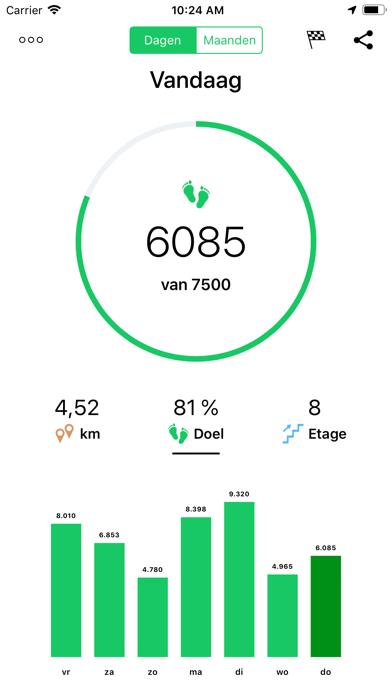 Hardloop Joggen Wandelen Goals iPhone app afbeelding 4