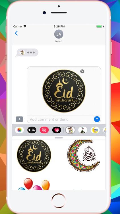 Eid Mubarak عيد الفطر Stickers screenshot-9