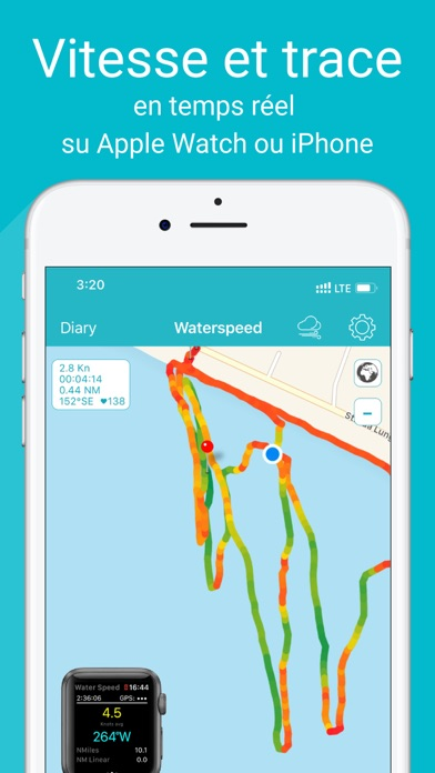 Screenshot #1 pour Waterspeed Voile, SUP,Surf GPS
