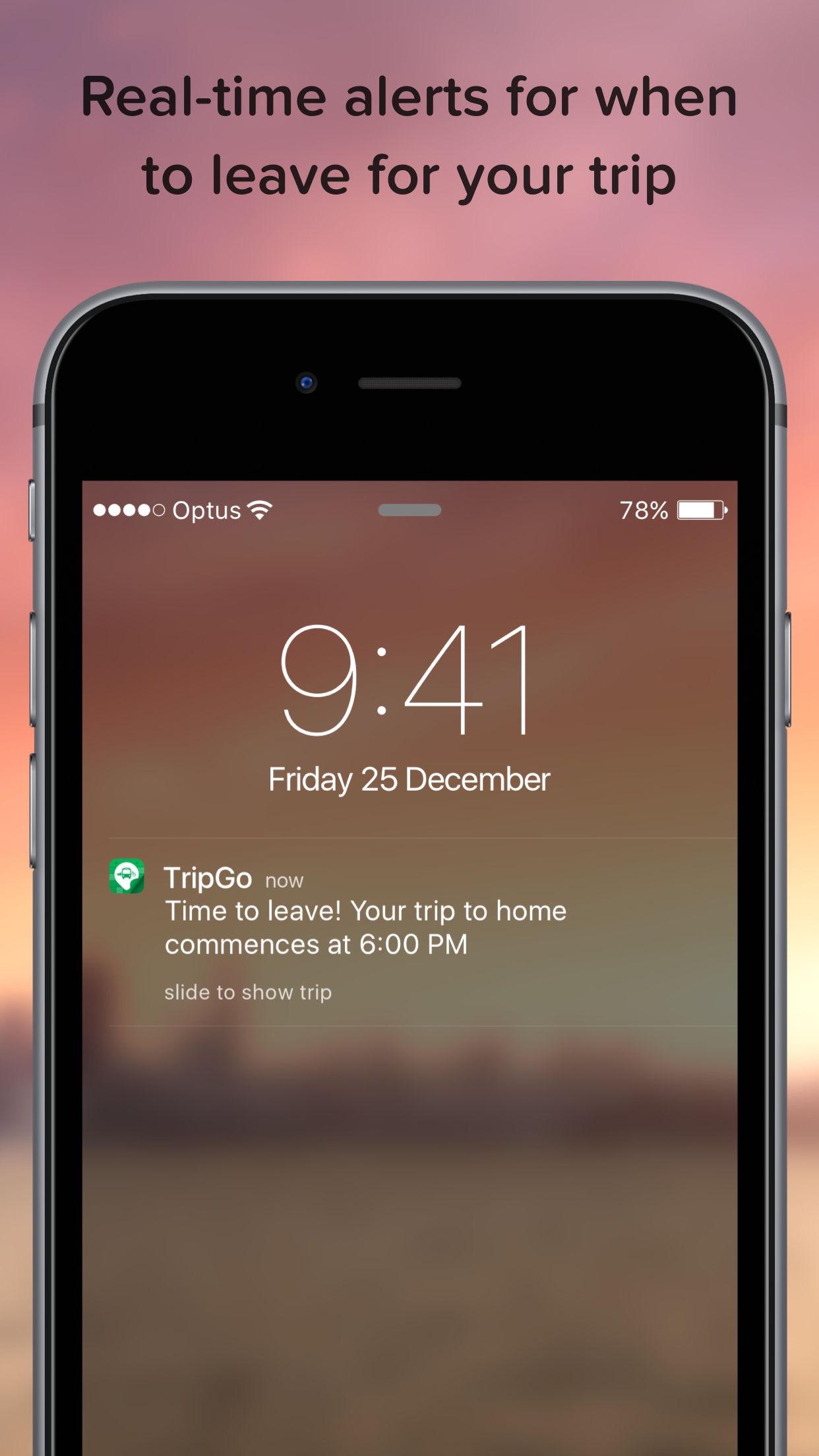 Screenshot do app TripGo