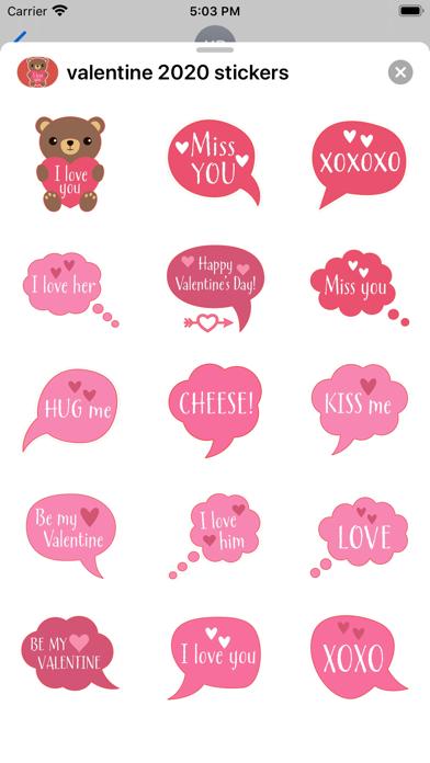 Valentines Day : love stickers screenshot 2