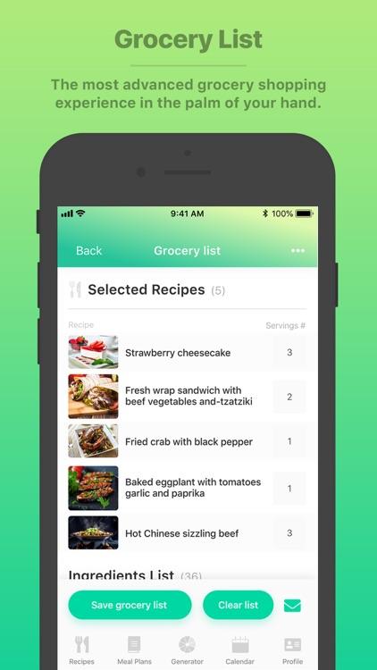 Burst Menu - Meal Planner screenshot-3