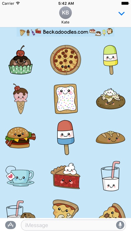 Cute Food-Art of Cute Stickers screenshot-3