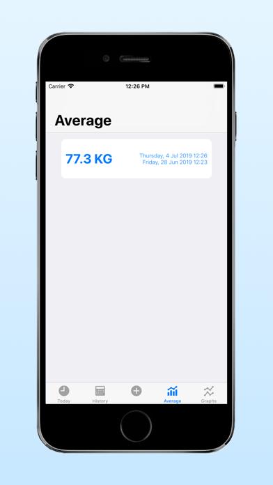 Heikin: Average Weight Tracker screenshot 5