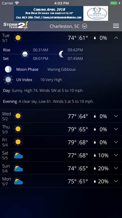 download WCBD Weather apps 4