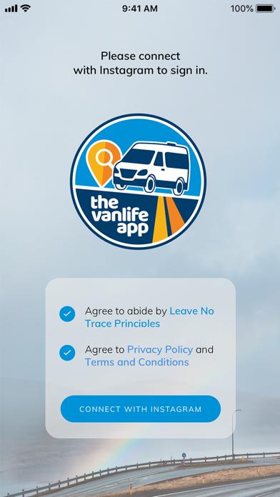 The Vanlife App Screenshot