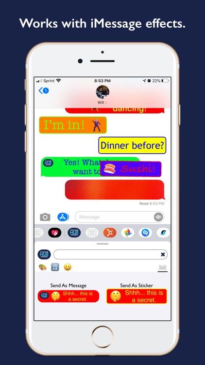 Hue - Color Text Sticker Maker