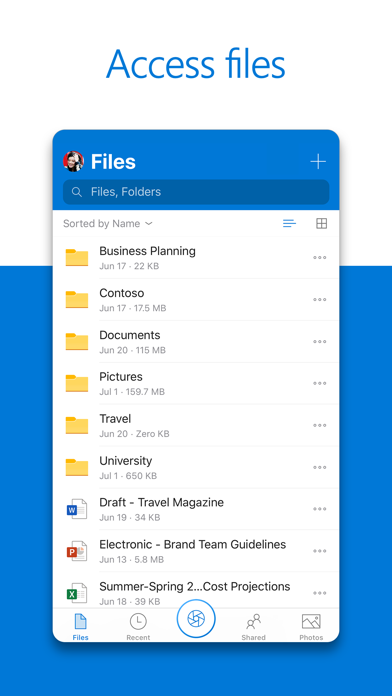 Microsoft Onedrive review screenshots