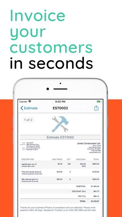 Invoice Simple, Estimate Maker Screenshot