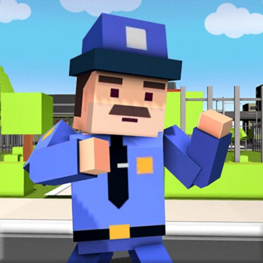 Blocky Police VS Street Gangs iOS App