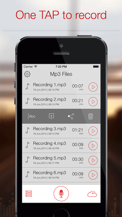 Screenshot #2 pour Mp3 Recorder : Voice Recorder