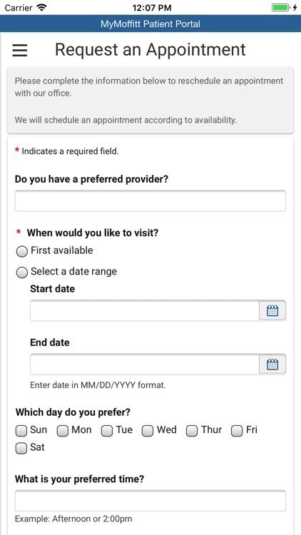 MyMoffitt Patient Portal