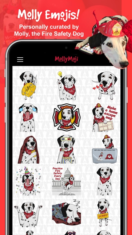 MollyMoji - Dalmatian stickers
