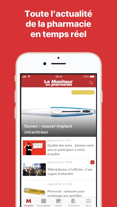 Le Moniteur des pharmacies.fr screenshot one