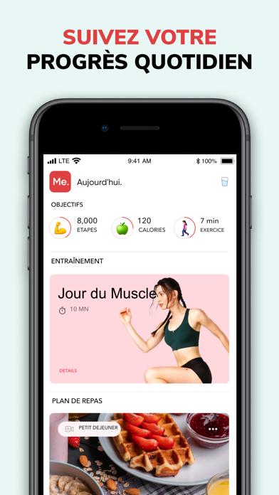 Screenshot for BetterMe: Entraînements de Per in Lebanon App Store