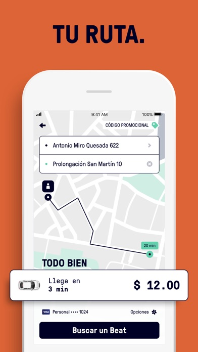 Screenshot for Beat - Ride app in Chile App Store