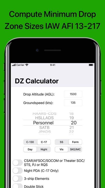 DZ Calc: Drop Zone Calculator