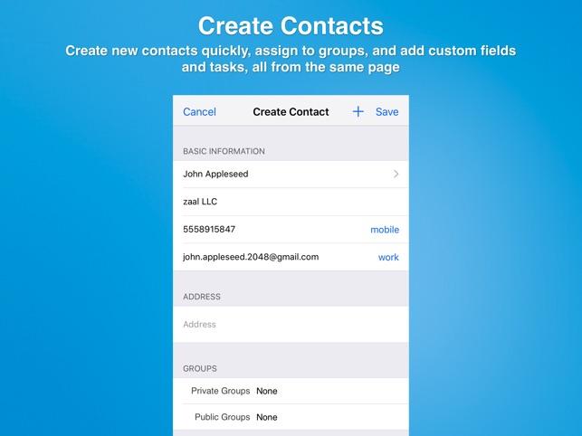 Contacts Journal CRM Screenshot