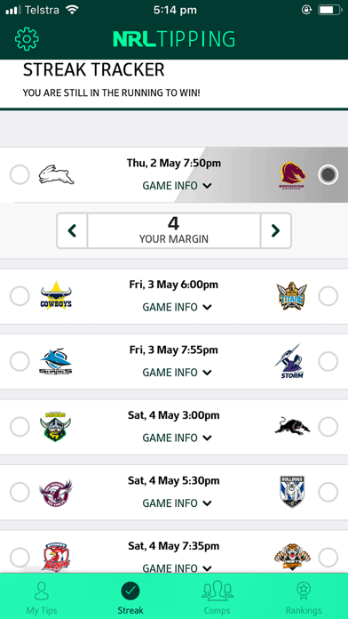 Download NRL Tipping for Pc