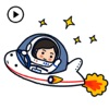 Cute Little Astronaut Sticker