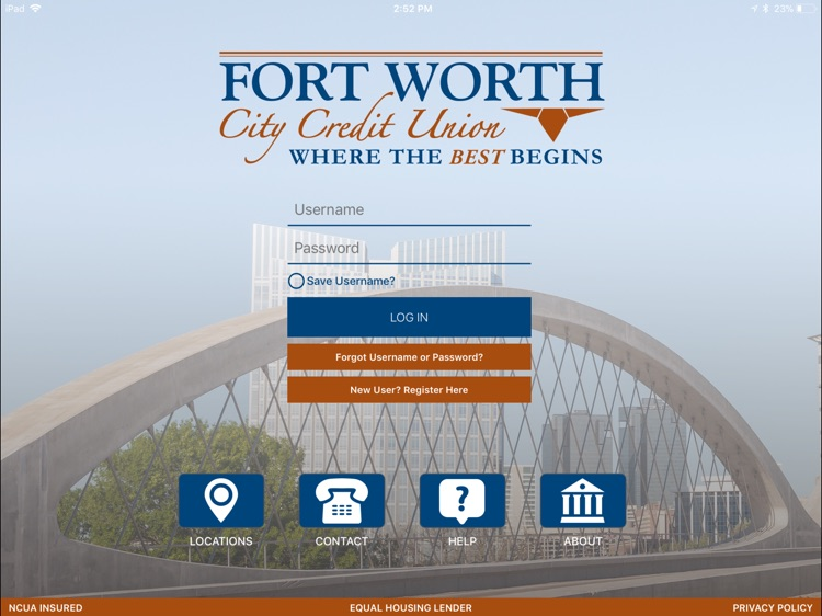 Fort Worth City CU for iPad