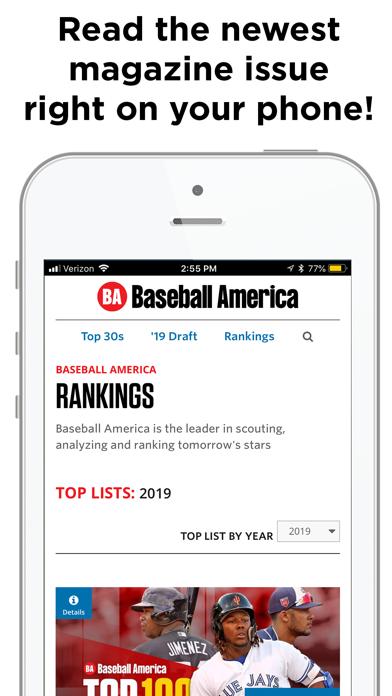 Baseball America Screenshot