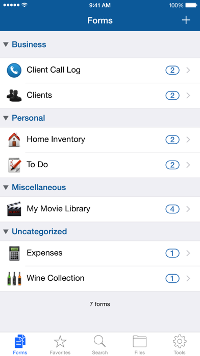 Tap Forms Organizer screenshot two