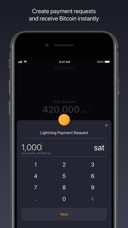 Zap: Bitcoin Lightning Wallet screenshot-3