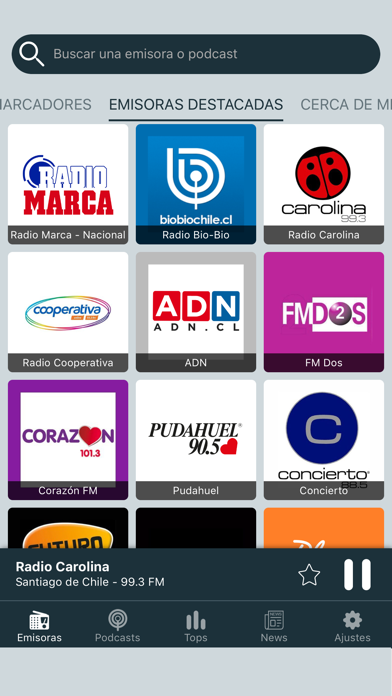 Screenshot for Radio Chile - Radios FM Online in Chile App Store